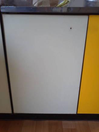 キッチンのシンクのカスタマイズ メークアップシートの貼り方2