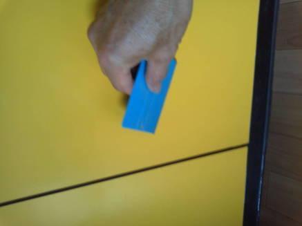 キッチンのシンクのカスタマイズ メークアップシートの貼り方4-2