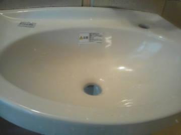 手洗い器 排水間の取り替え 手洗い器はオーバーフローなし