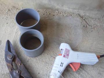 換気チャンバー用 虫侵入防止網 自作 使用する材料道具
