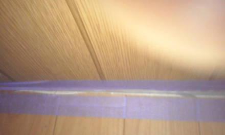 セパレートタイプにするためにトイレの新設 養生テープは5mmから7mm離す