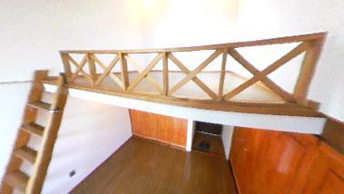 ロフト付きアパートのパノラマ写真