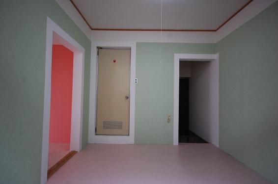 クロスのカスタマイズできるアパート 淡色のお部屋 北側
