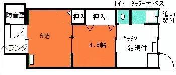 完全防音室付き防音ハイツ平面図