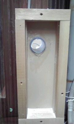 防音換気チャンバーの作り方 パイプ周りをシール
