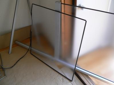 防犯ガラス ビードで取り付け
