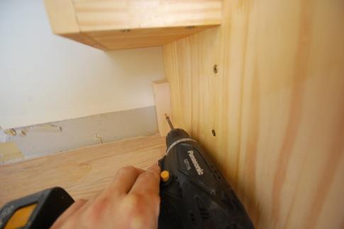 家具階段の取り付け方 取付2
