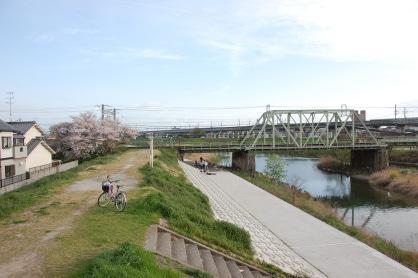 園田宮園橋堤防南側