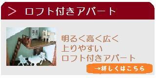 ロフト付きアパート 明るく高く広く上りやすいロフト付きアパート