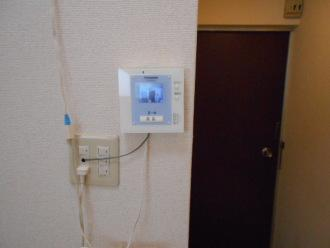 テレビインターホン室内親機も取付