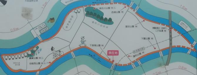 園田の遊歩道 案内板の詳細