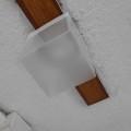 ロフト付賃貸の廊下の照明をLEDに取り替え カバーを取付完成