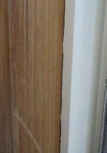 アルミ折り戸のフランジのカット方法 取り付けたところ