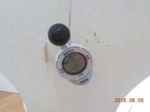 杉原土地のロフトはそんなに暑くない お部屋の温度33.3℃