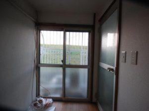 古民家風の防音室 ベランダ側窓