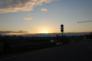 大阪方面から上る初日の出