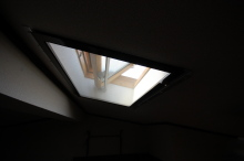 天窓に網戸の取付