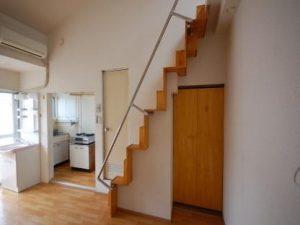 ロフト付アパートC51 階段側側面
