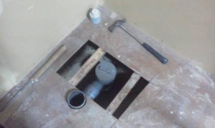 セパレートタイプにするためにトイレの新設 配管する