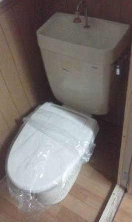 セパレートタイプのトイレにできました