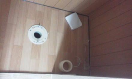 セパレートタイプにするためにトイレの新設 フランジの取り付け