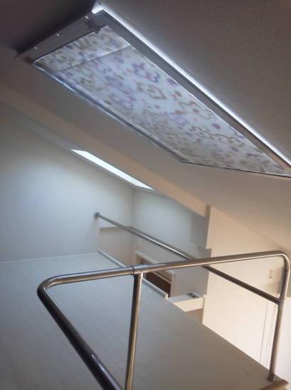 ロフトの天窓 天窓の遮光 網戸を閉める