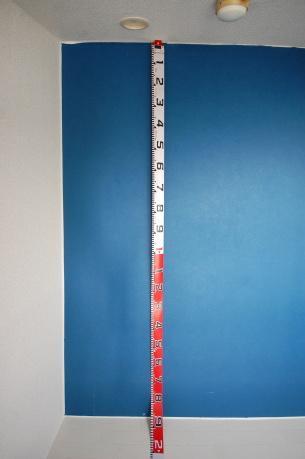 ロフト付きアパートのロフトの大きさ ロフトの高いところ