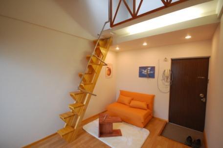 天井が高いロフト付きアパートA4