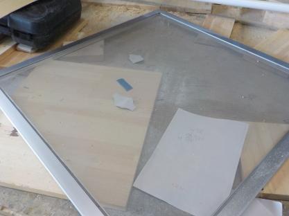 天窓網戸の製作 網戸本体の完成