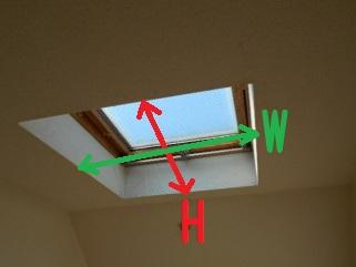 天窓網戸の製作 天窓の測定