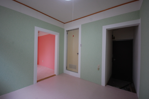 壁紙選べる1DKアパート室内キッチン西北側