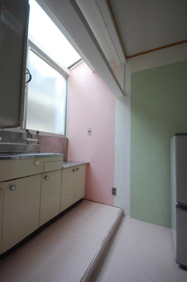 壁紙選べる1DKアパート室内天窓