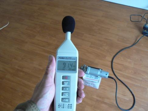 防音室 内側騒音レベル