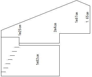 ロフト付きアパート 断面図