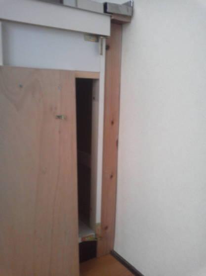 清潔なアパートにするため隙間をなくす 扉を取り除く