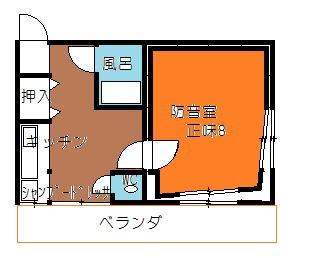 完全防音室付アパート間取り図