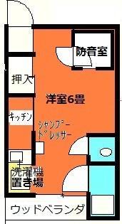 防音ブース付アパート間取り図