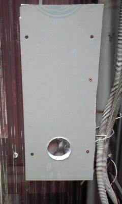 防音換気チャンバーの作り方 チャンバー外側に穴を穿つ