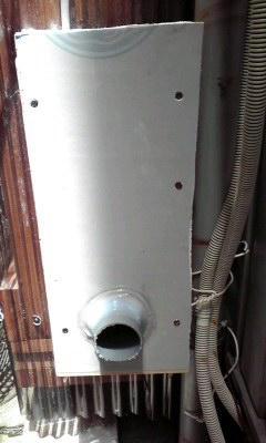 防音換気チャンバーの作り方 チャンバー外側パイプの取付