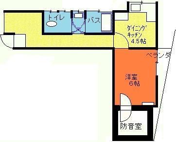防音室付アパート