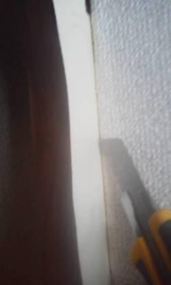 クロスの貼り方 フスマにクロス 切り取ります