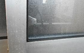 補強板の取り付け前外側