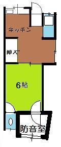 防音室付き古民家 平面図