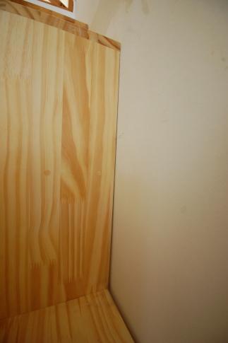 家具階段の取り付け方 不陸直し1
