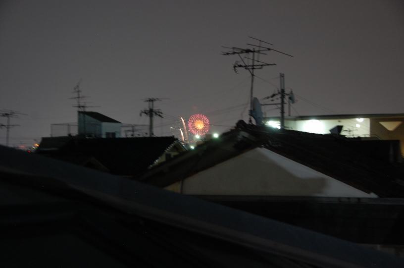 ロフトから見える花火遠景