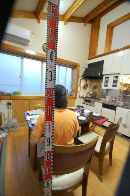 ロフトの天井高は1.4mで充分 身長156cmなら座って1.25mです。