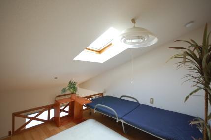 ベッドを置いた小社ロフト付アパート