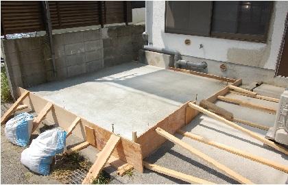 防音室のコンクリート打ち