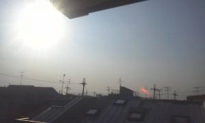 ロフトから見える太陽