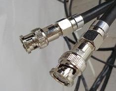 防犯カメラ通信線の延長 BNCコネクタ BNCP-F変換アダプタの接続